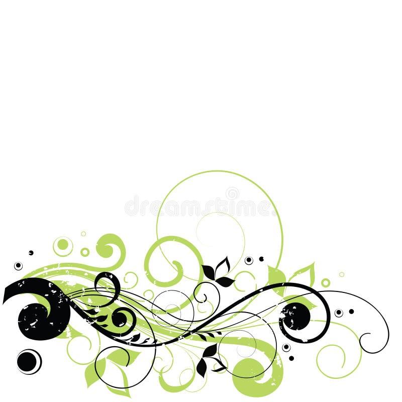 blom- avståndstext för design vektor illustrationer