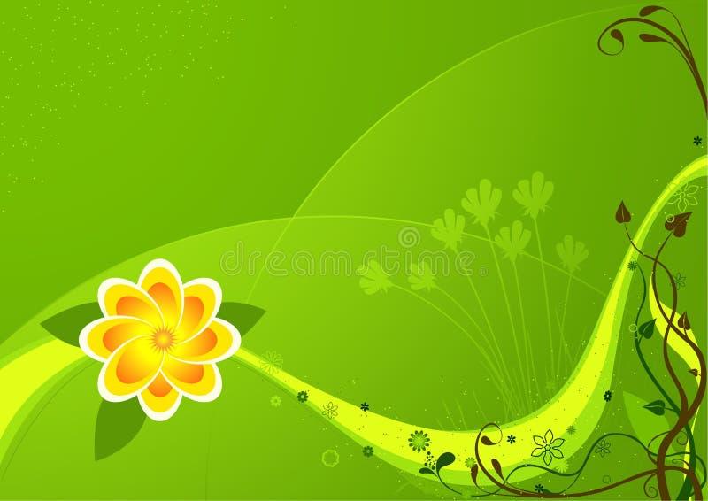 blom- bakgrund 04 royaltyfri illustrationer