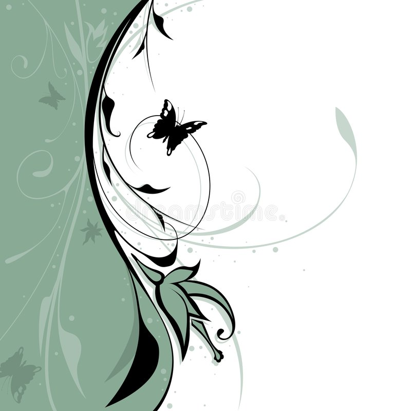 blom- bakgrund 09 vektor illustrationer