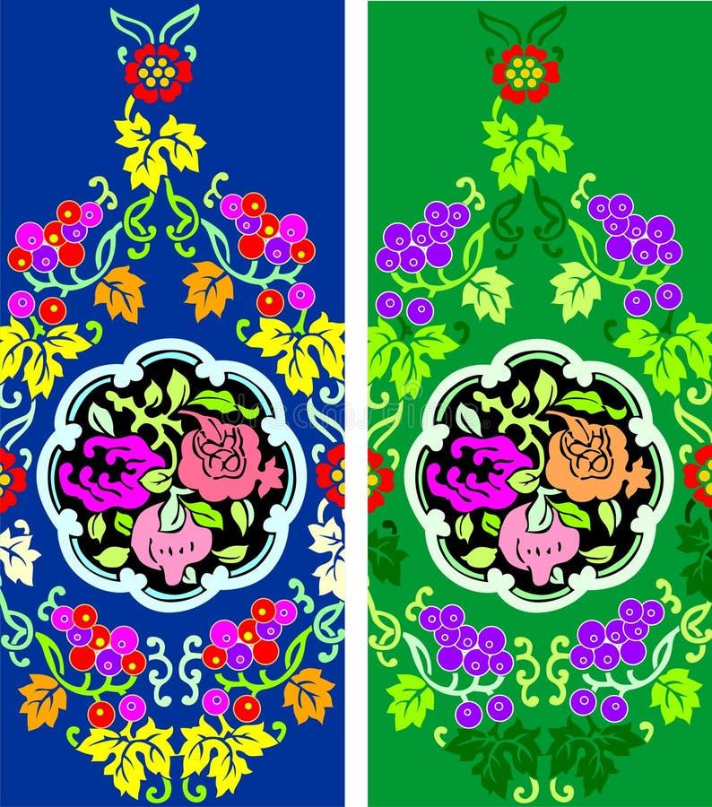 blom- bakgrund royaltyfri illustrationer