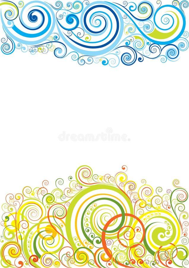 Blom- bakgrund för design stock illustrationer