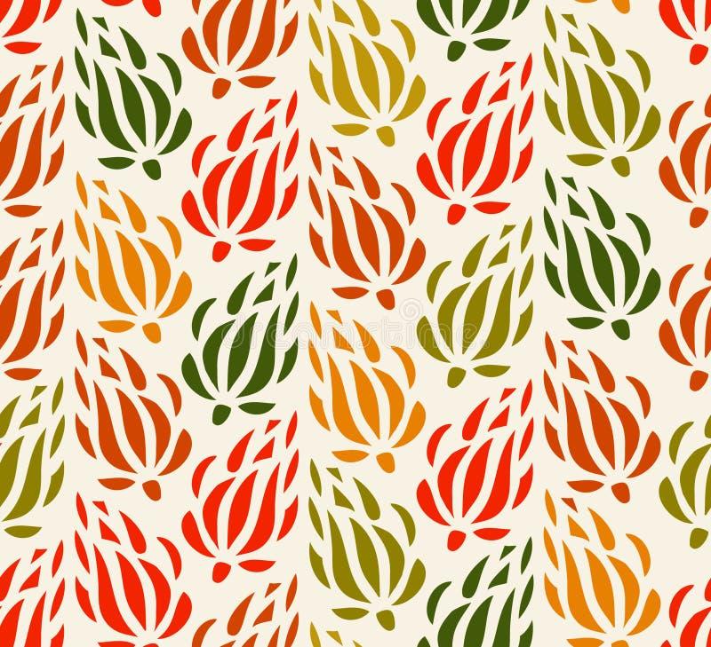 Blom- bakgrund för färgrik gobeläng Ändlös dekorativ modell Den sömlösa modellen kan användas för tapeten, modellpåfyllningar, re stock illustrationer