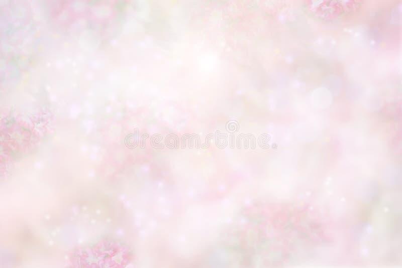Blom- bakgrund för pastellfärgade rosa färger royaltyfri bild