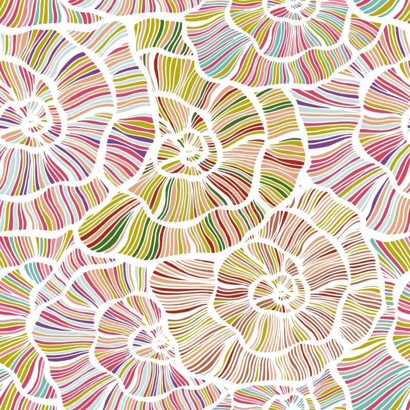 Blom- bakgrund för sömlös färg royaltyfri illustrationer
