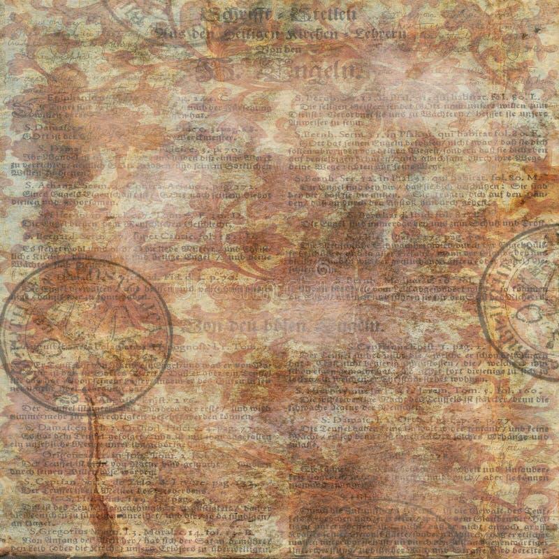 Blom- bakgrund för texttappning stock illustrationer