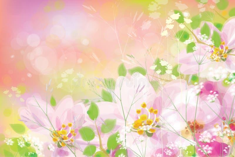 Blom- bakgrund för vektorvår stock illustrationer