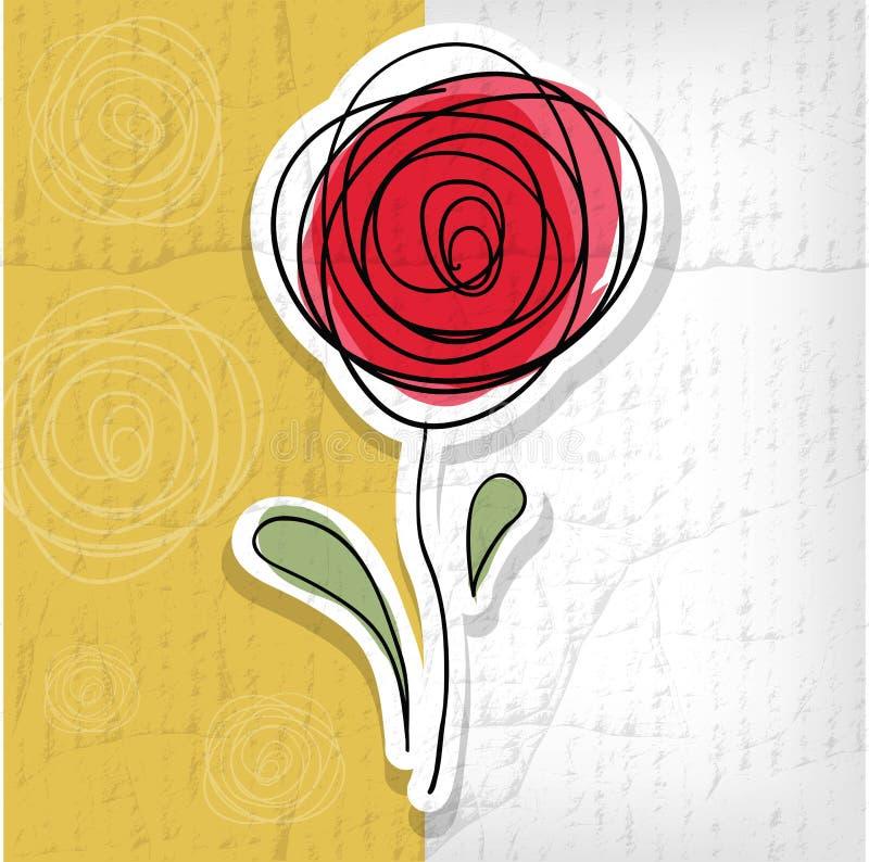 Blom- bakgrund med abstrakta rosor royaltyfri illustrationer
