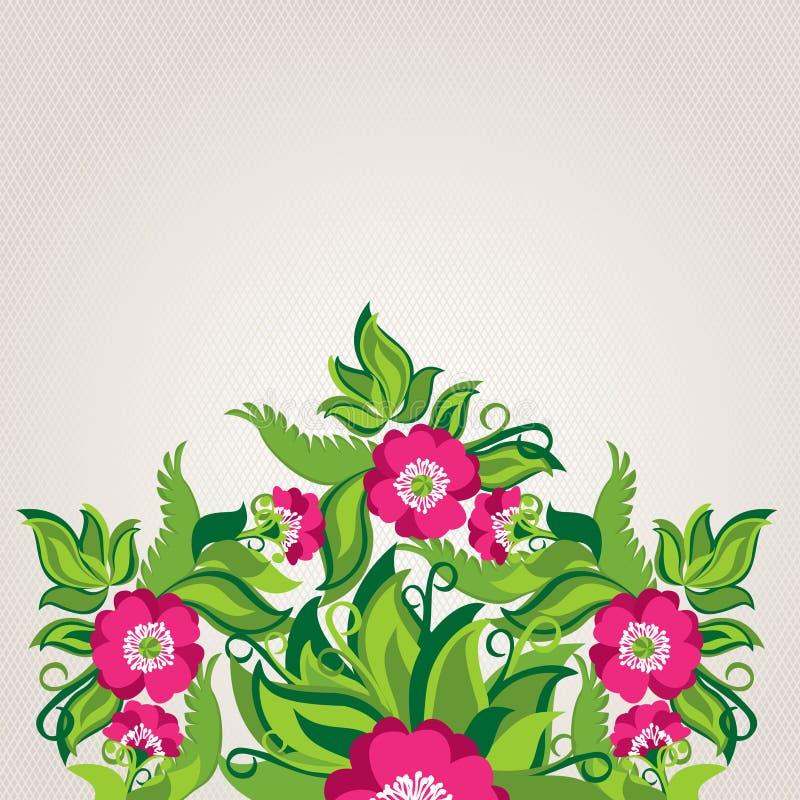 Blom- bakgrund med abstrakta vallmo royaltyfri illustrationer