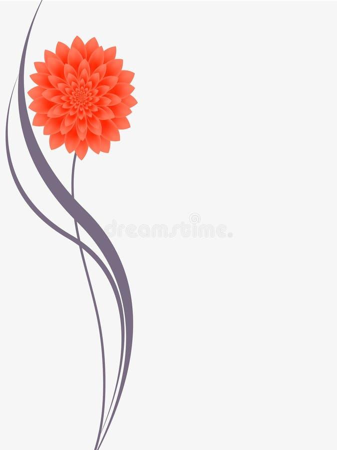 Blom- bakgrund med blommadahlian royaltyfri illustrationer