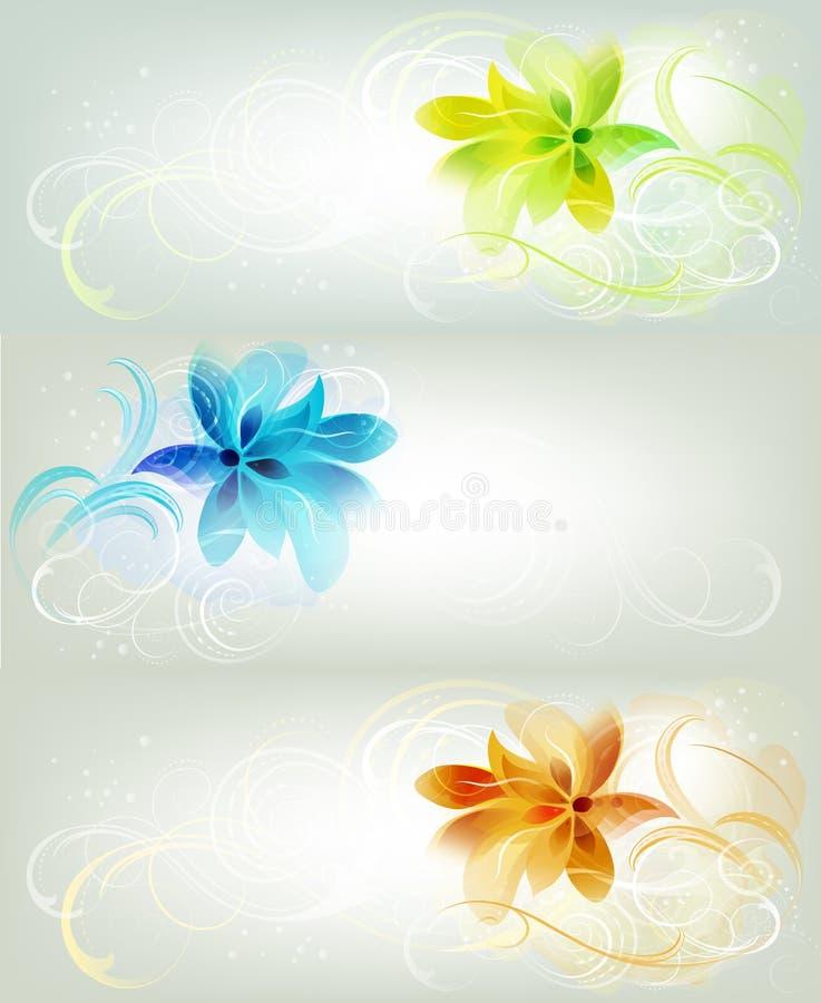 Blom- bakgrunder royaltyfri illustrationer