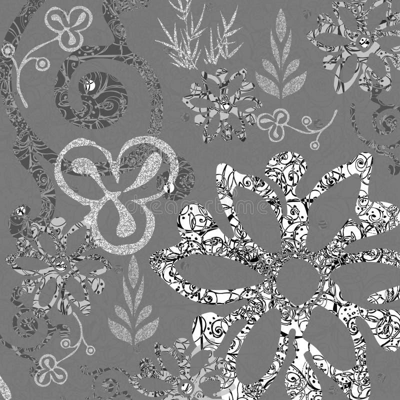 blom- bakgrundsbohem stock illustrationer