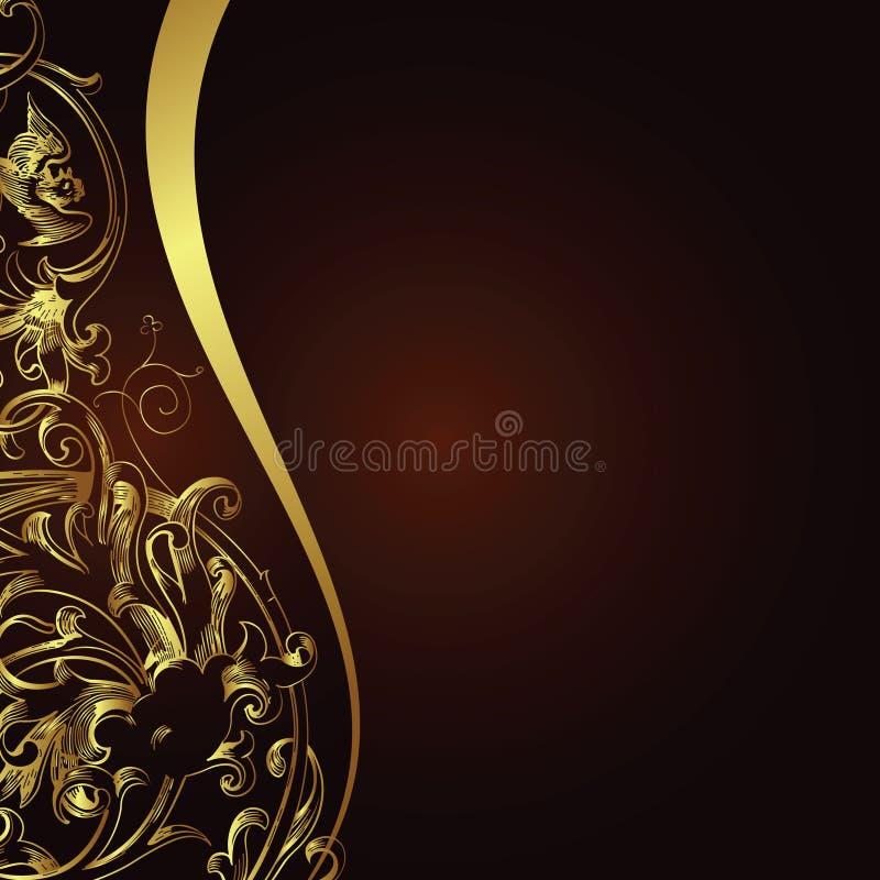 blom- bakgrundsdesign royaltyfri illustrationer