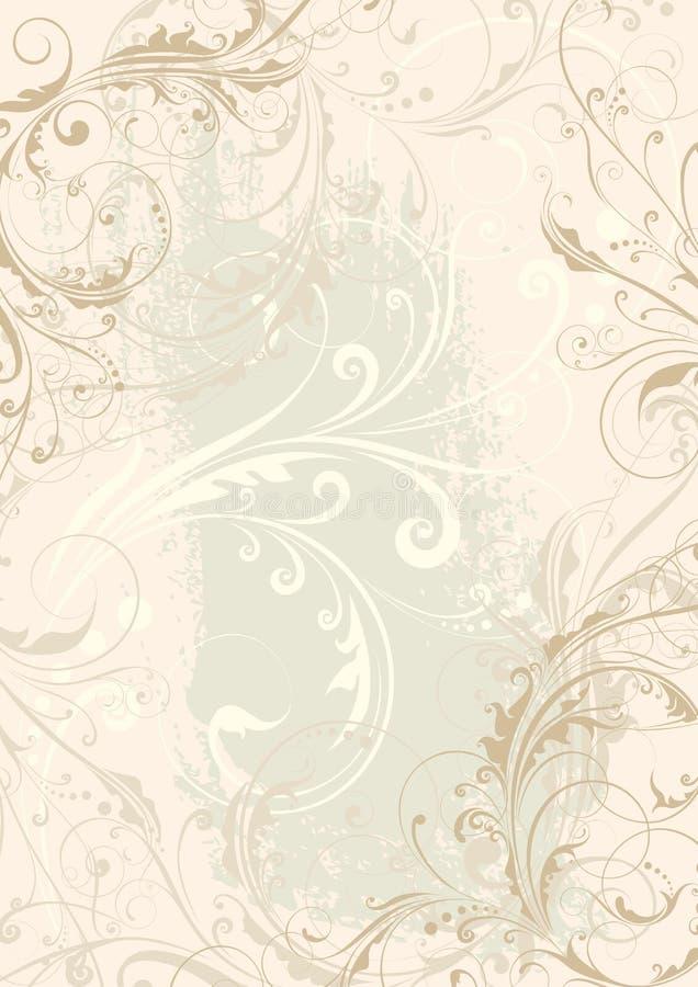 Blom- bakgrundsdesign för virvel royaltyfri illustrationer