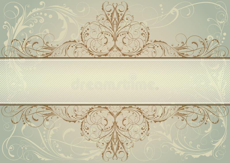 Blom- bakgrundsetikett för virvel stock illustrationer
