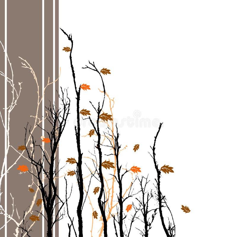 blom- bakgrundsfall vektor illustrationer