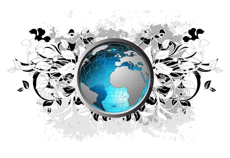 blom- bakgrundsjord stock illustrationer
