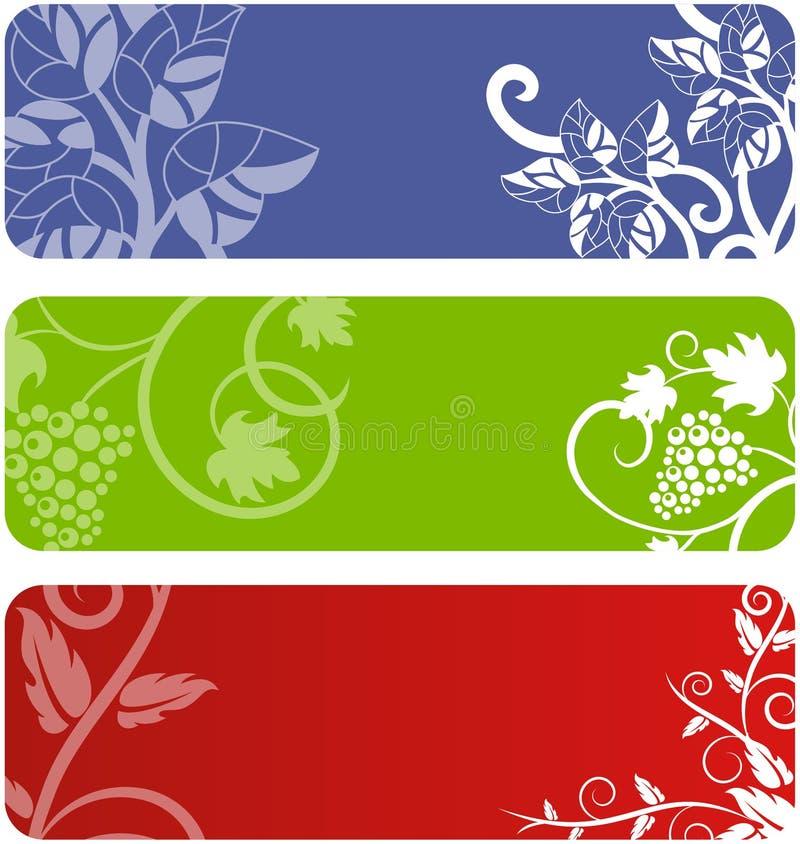 Blom- banerset royaltyfri illustrationer
