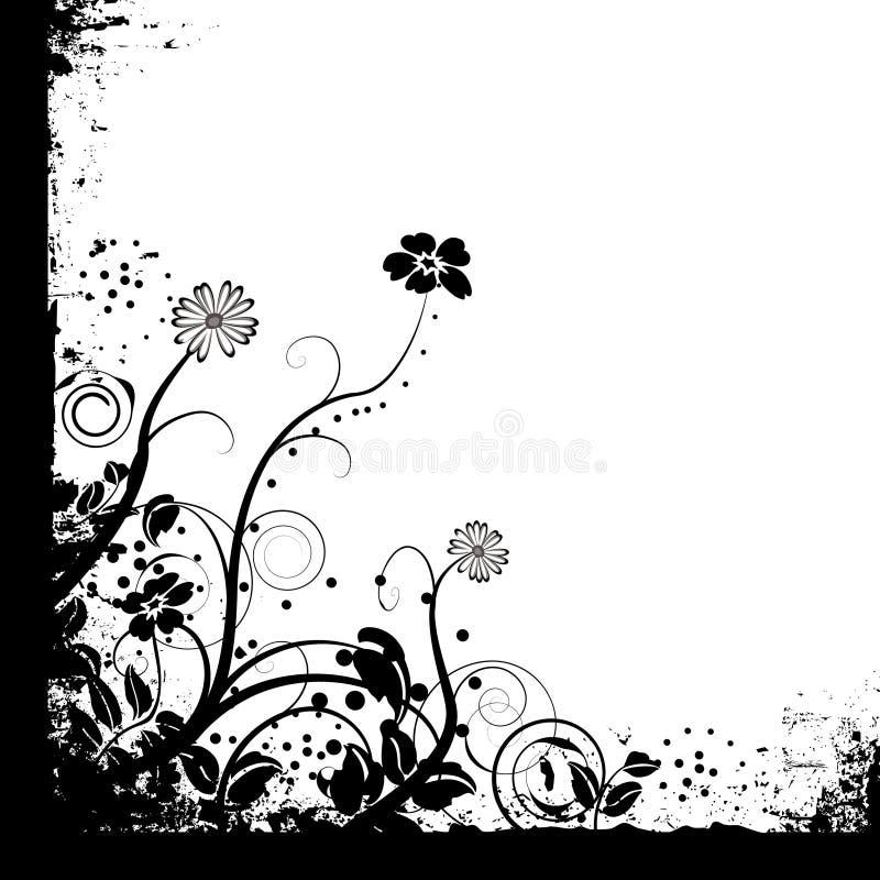 blom- bara mono royaltyfri illustrationer