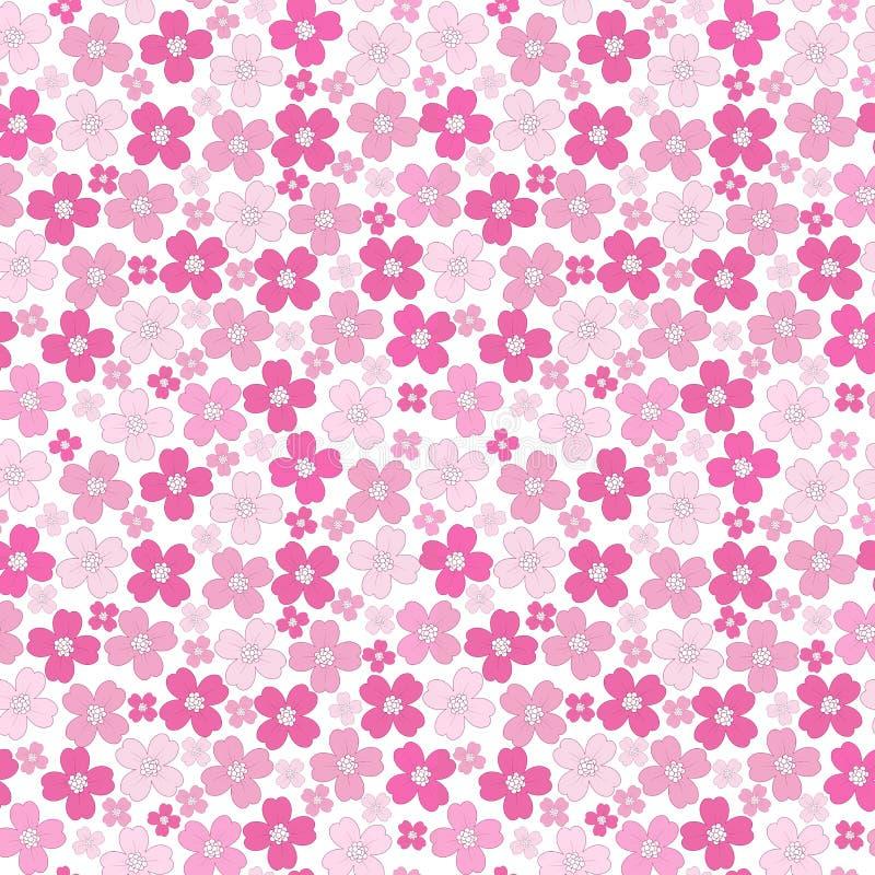 Blom- behandla som ett barn den sömlösa bakgrundsmodellen för flickan vektor illustrationer