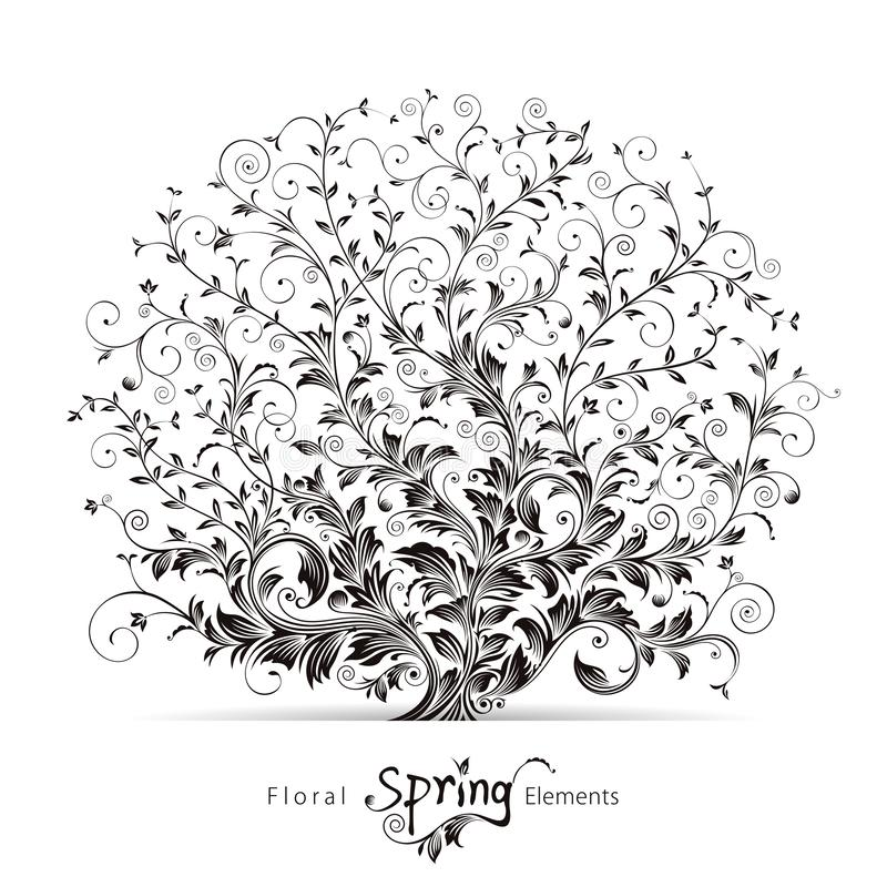 Blom- beståndsdelar för vår vektor illustrationer