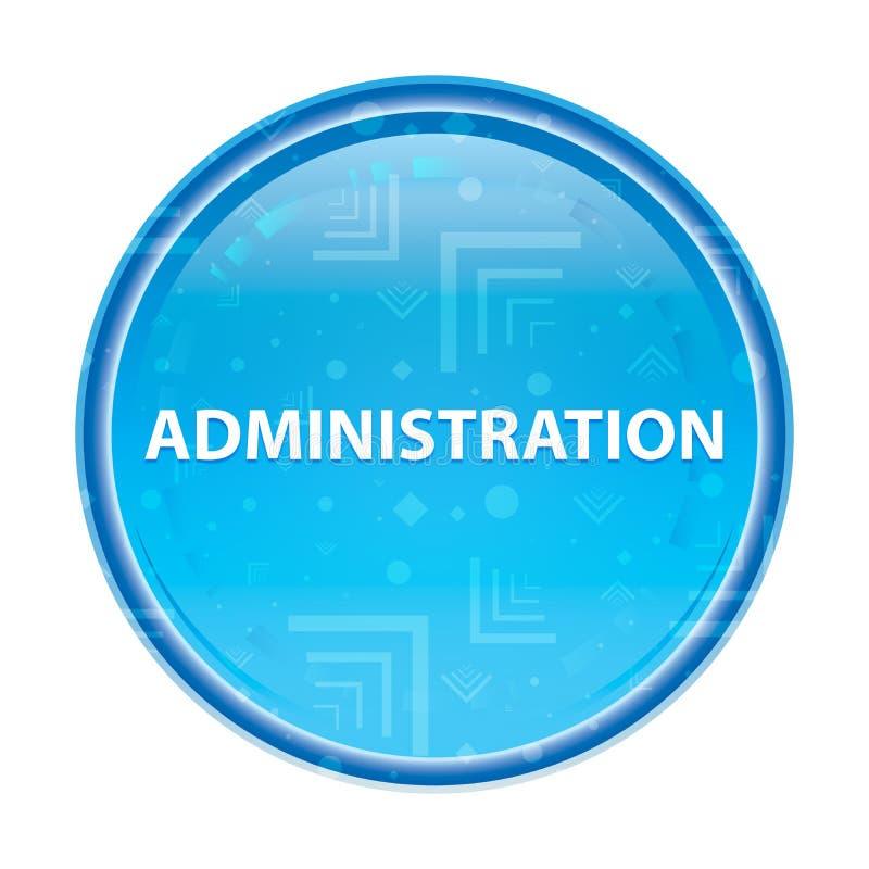 Blom- blå rund knapp för administration stock illustrationer