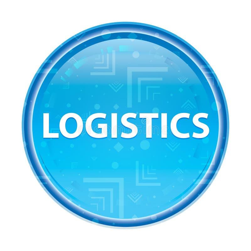 Blom- blå rund knapp för logistik stock illustrationer