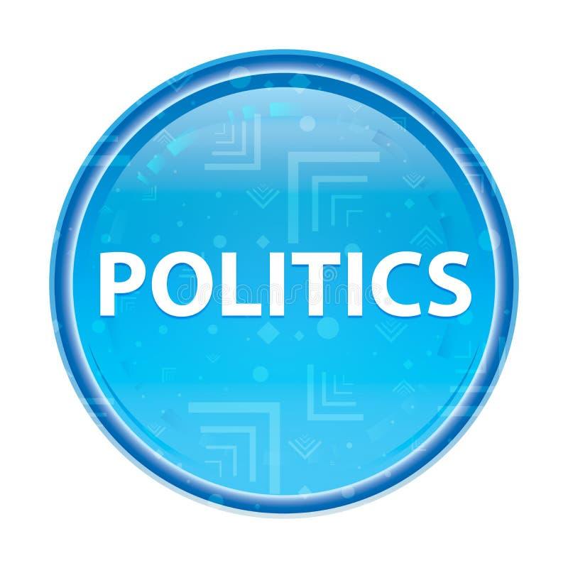 Blom- blå rund knapp för politik stock illustrationer