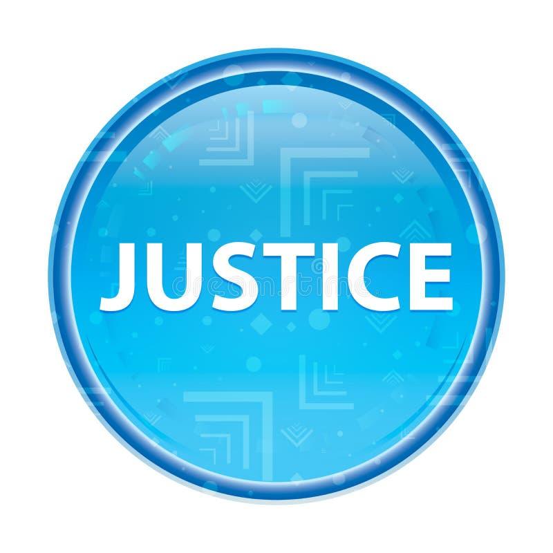 Blom- blå rund knapp för rättvisa royaltyfri illustrationer