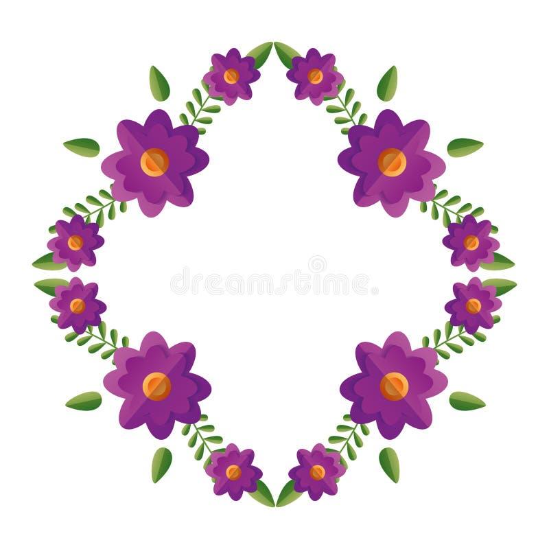 Blom- blommakrans royaltyfri illustrationer