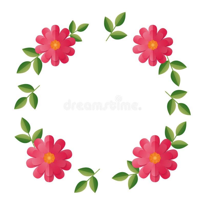 Blom- blommakrans vektor illustrationer