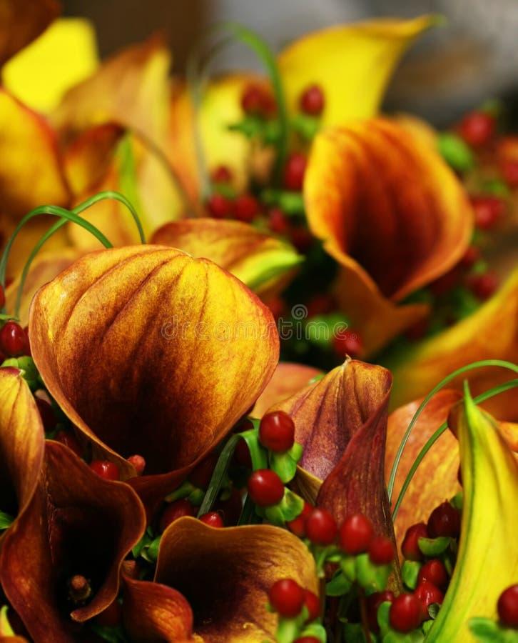 blom- bröllop för höstboquet royaltyfri fotografi