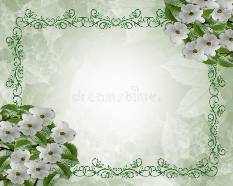 blom- bröllop för kantdogwood vektor illustrationer