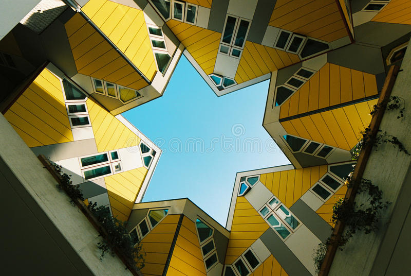 Blom Cube Houses. Cube Houses by Blom in Rotterdam, the Netherlands stock photos
