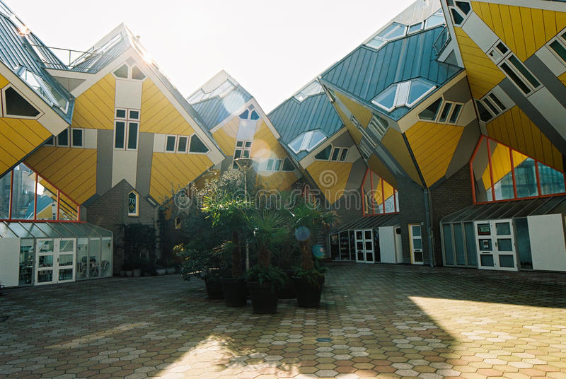 Blom Cube Houses. Cube Houses by Blom in Rotterdam, the Netherlands royalty free stock photo