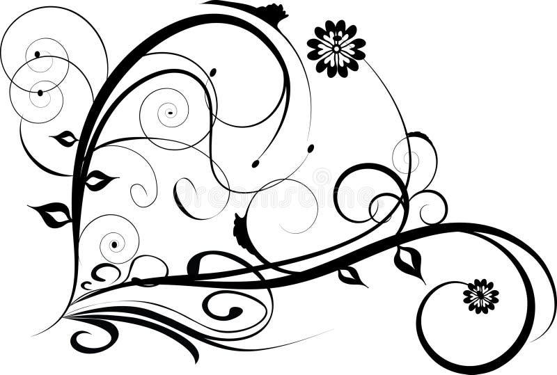 blom- dekorativ design royaltyfri illustrationer