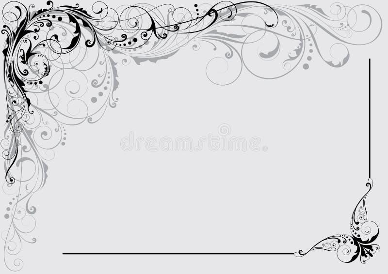 blom- dekorativ design stock illustrationer