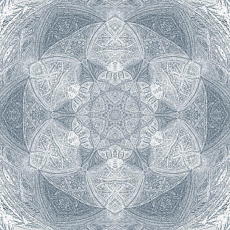 Blom- dekorativ gräns för abstrakt monokrom cirkel Snöra åt modelldesignen royaltyfria foton