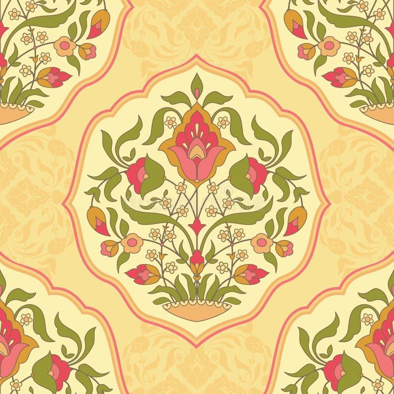 blom- dekorativ modell stock illustrationer