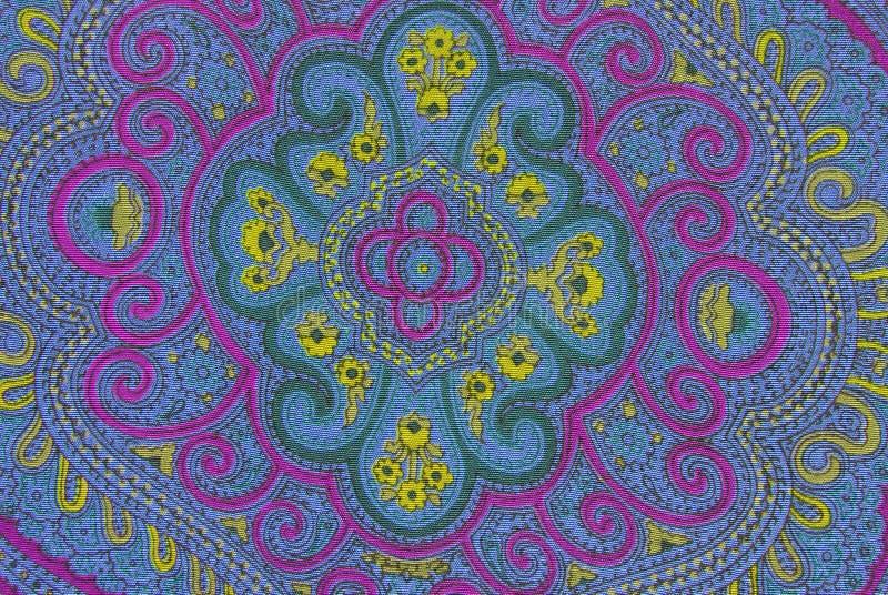 Blom- dekorativ tygtextur royaltyfria foton