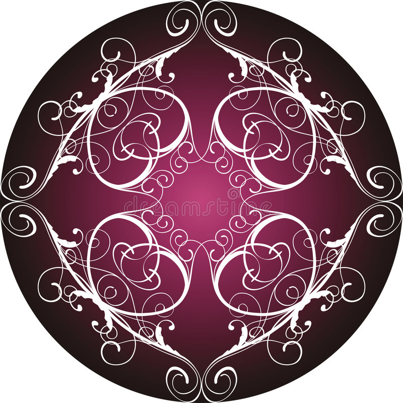 blom- dekorativt för cirkel vektor illustrationer