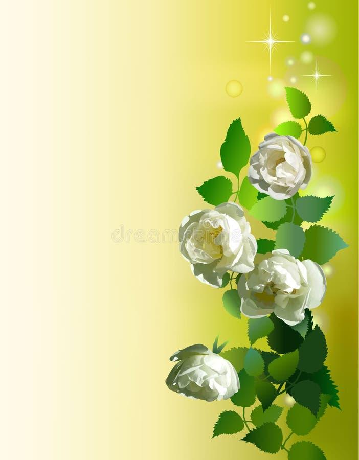 Blom- dekorerad bakgrund royaltyfri illustrationer