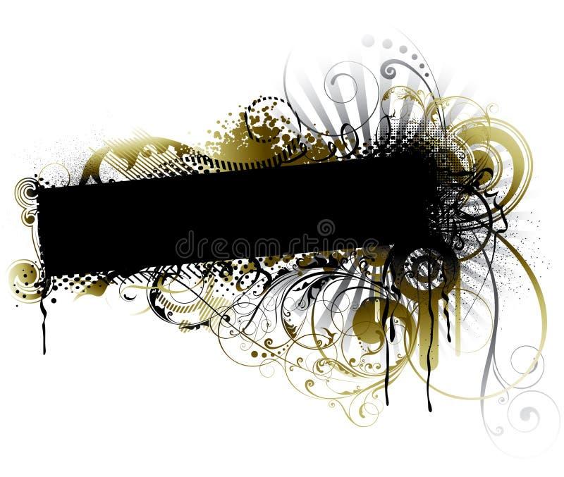Blom- design för abstrakt grunge stock illustrationer