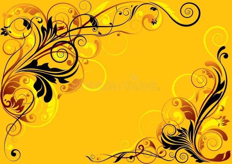 Blom- design för färg stock illustrationer