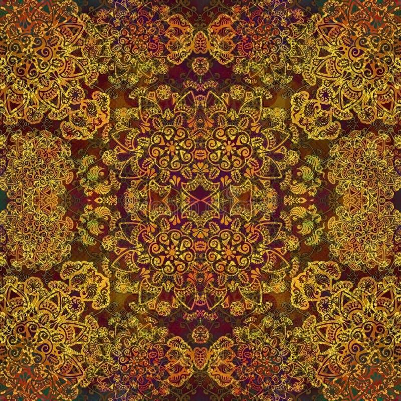 Blom- design på färgad rengöringsdukbakgrund stock illustrationer