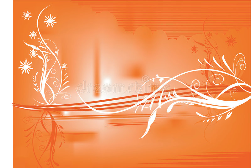 Blom- designer royaltyfri illustrationer