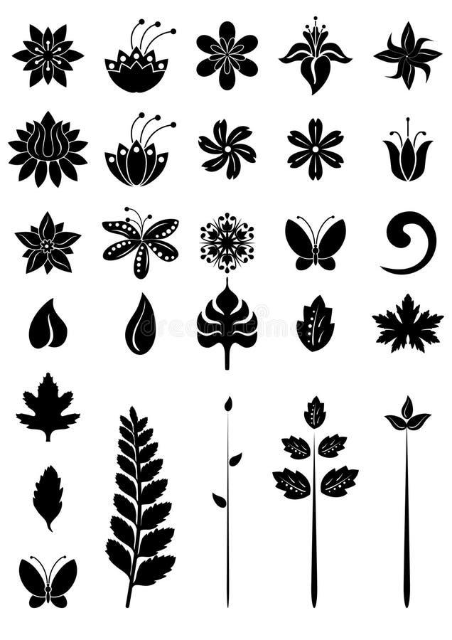 blom- dezignelement vektor illustrationer