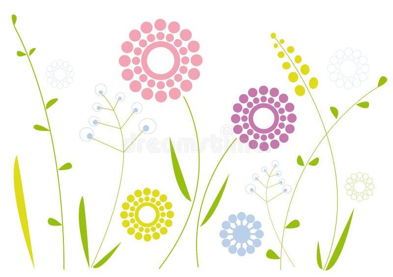 blom- enkelt för design stock illustrationer