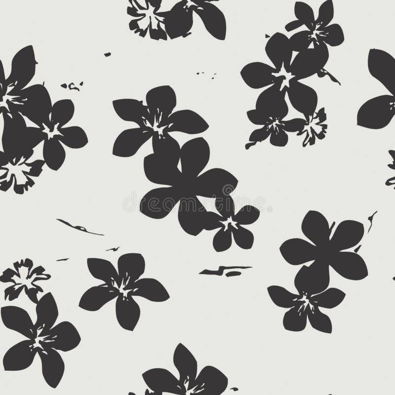 Blom- exotisk sömlös vektormodell för vändkrets royaltyfri illustrationer