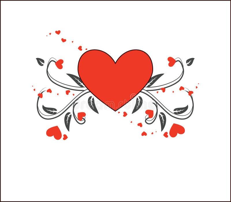 Blom- förälskelsehjärtabaner royaltyfria foton