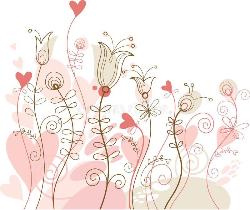 blom- ferie för bakgrund vektor illustrationer